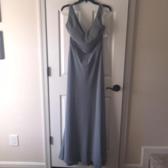 8d13718d8ed Jenny Yoo Denmark Blue stretch crepe Delaney Dress